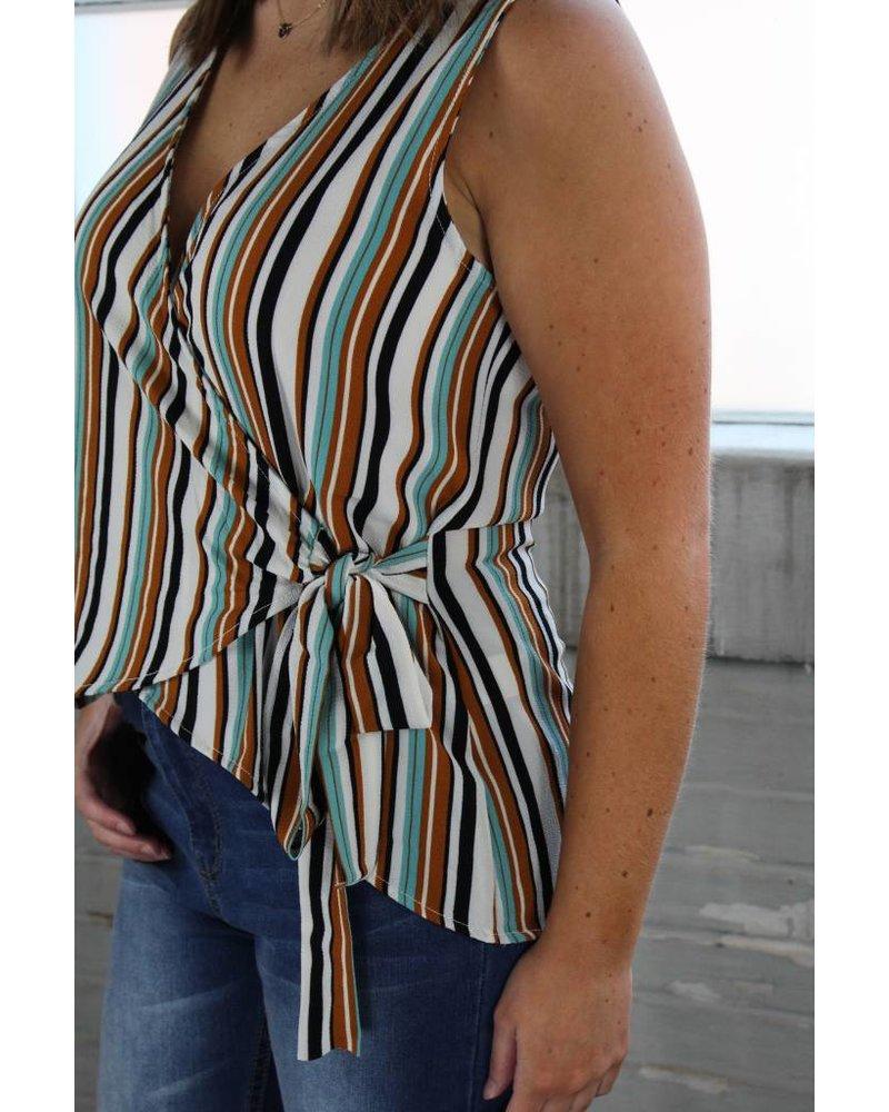 Promesa Stella Stripe Wrap Tunic DT2103