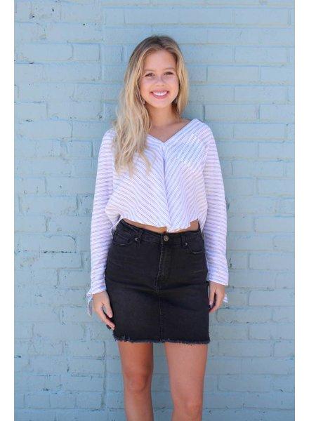 Wishlist Little Black Mini Skirt BW9047S