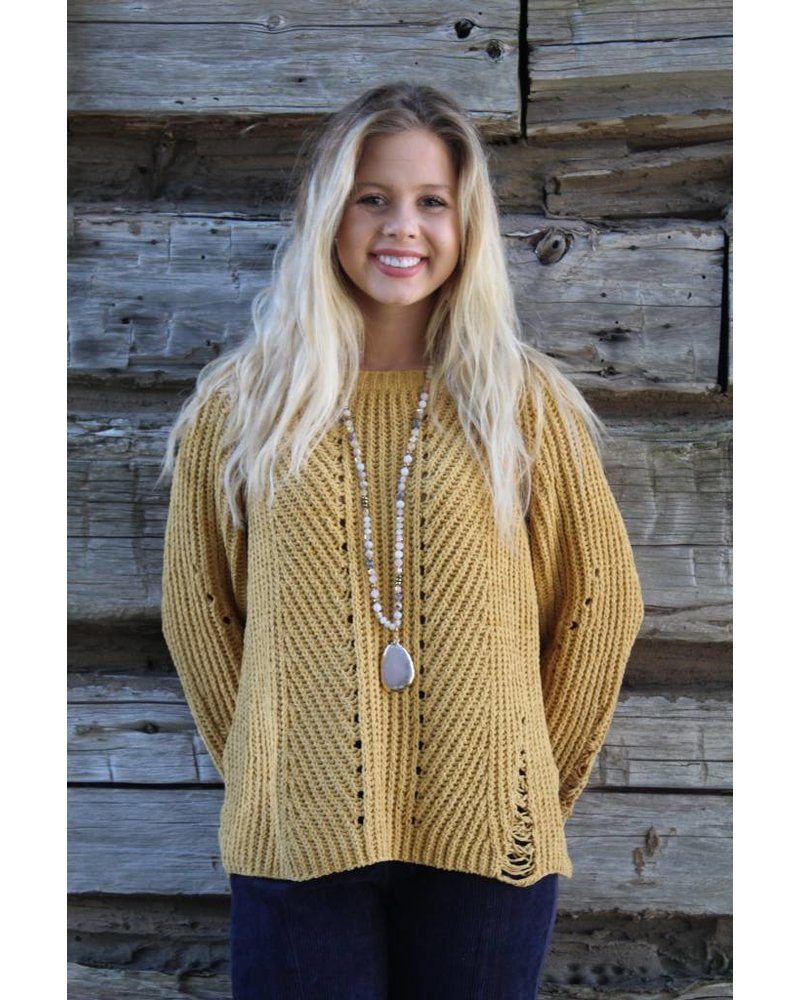 HYFVE My favorite Mustard Sweater LUX11283