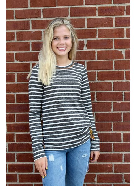 Taylor Stripe and Tie Top
