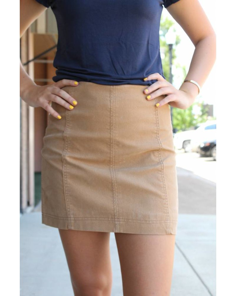 Wishlist Camel Mini Skirt