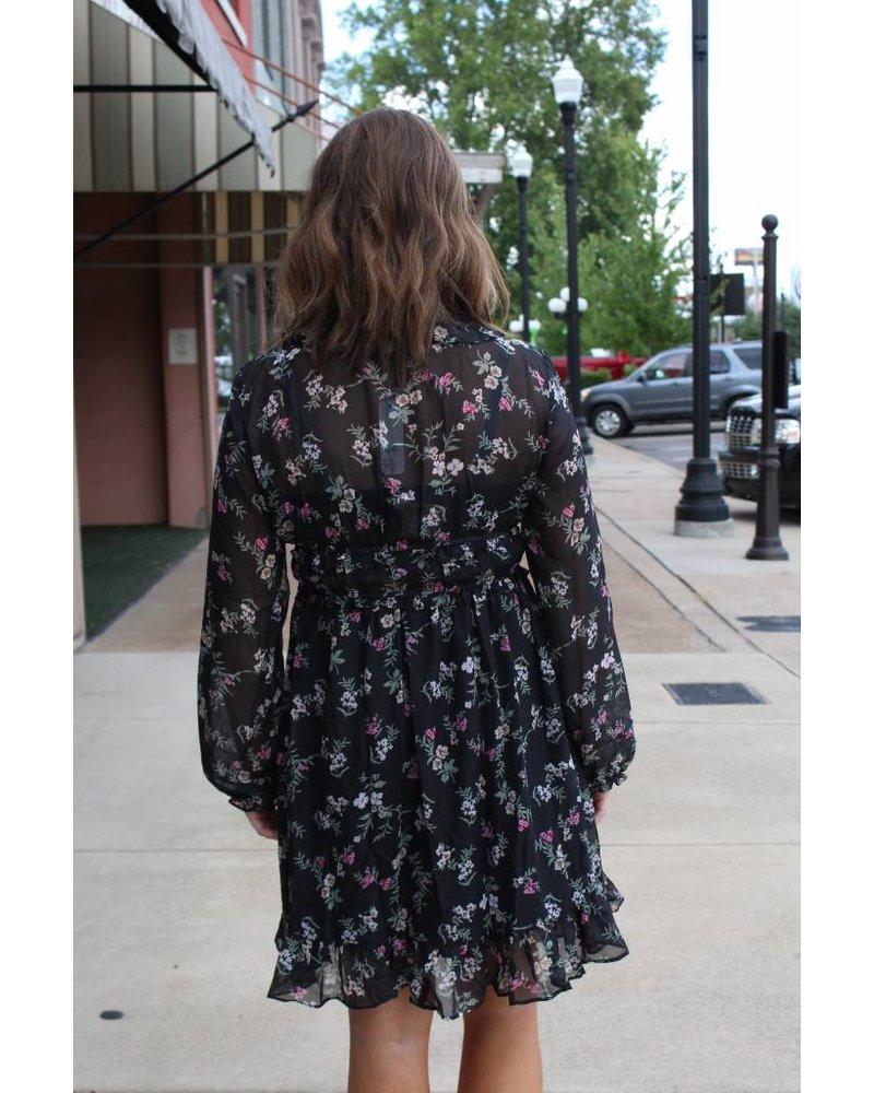 GLAM Darling Floral Ruffle Dress D1128