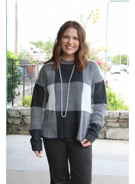 Brunch Check Cozy Sweater A11987A