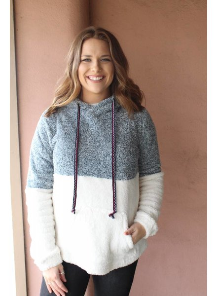 Fuzzy femme hoodie