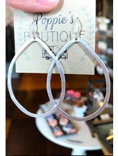 Hammered Circle Hoops Silver