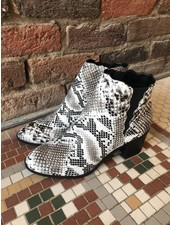 Fashionistas Topanga Snake Skin Booties