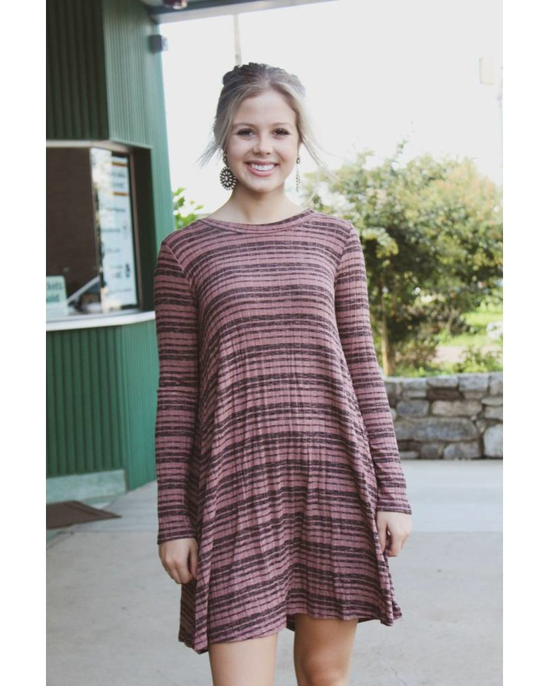 Fashionistas Katie Ribbed Swing Dress DA5810