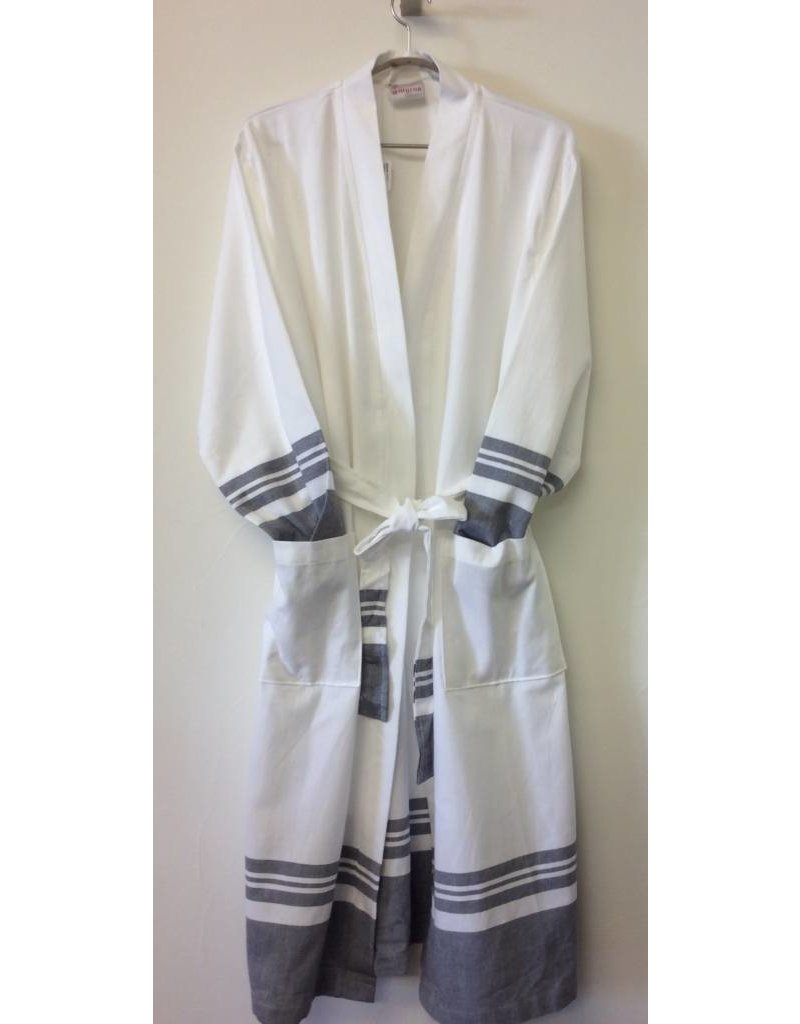 Smyrna Collection Smyrna Chalcedony Robe Grey L/XL