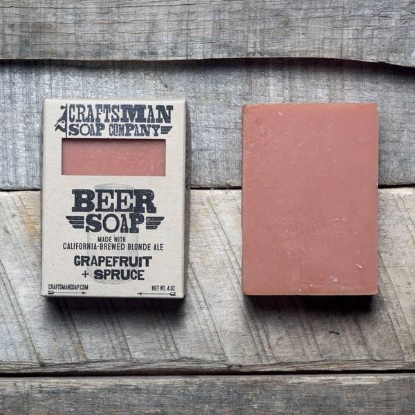 Craftsman Soap Co Craftsman Beer Soap Grapefruit + Spruce