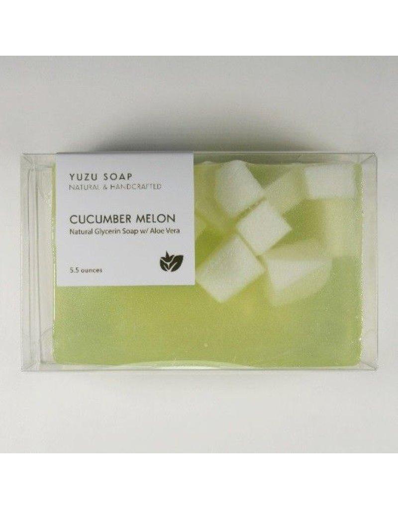 Yuzu Soap Yuzu Soap Glycerin Soap with Aloe Vera Cucumber Melon