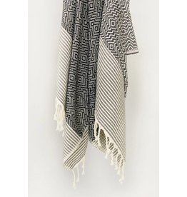 Smyrna Collection Smyrna Yucca Peshtemal Towel Black