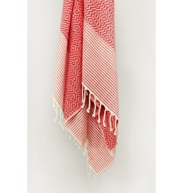 Smyrna Collection Smyrna Yucca Peshtemal Towel Red