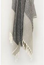 Smyrna Collection Smyrna Yucca Peshtemal Towel Black