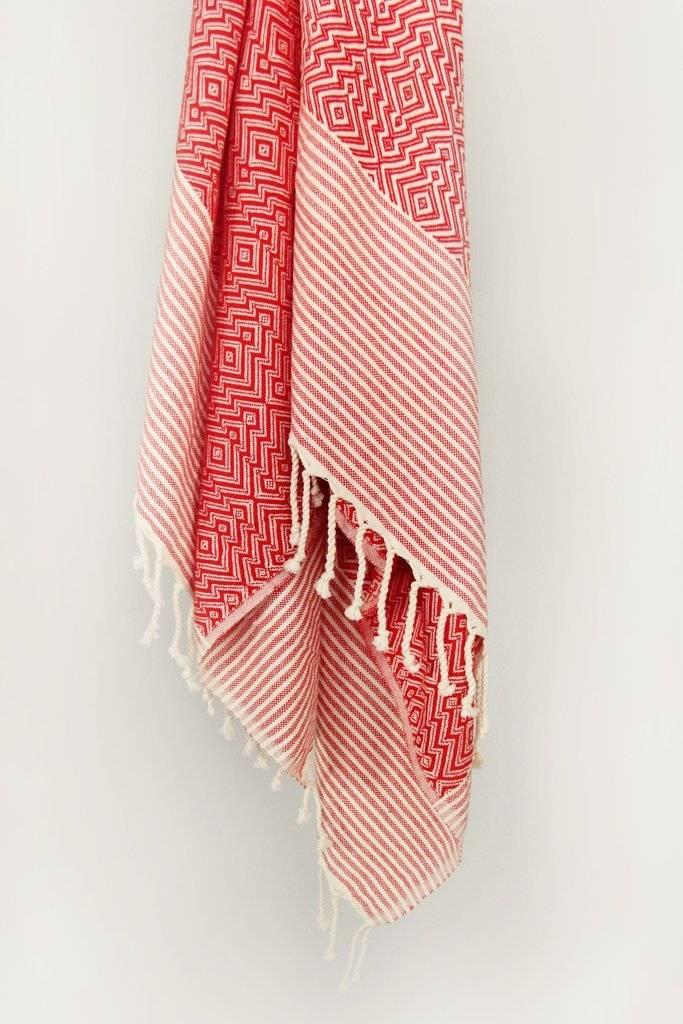 Smyrna Collection Smyrna Yucca Peshtemal Towel Red