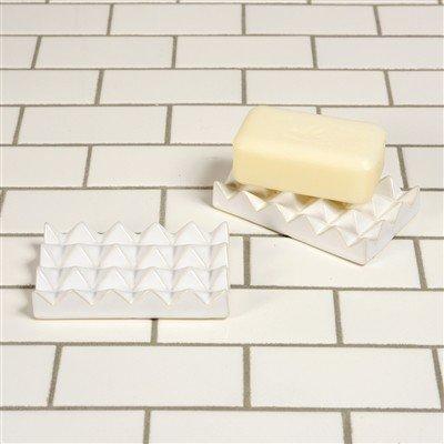 Homart HomArt Ceramic Soap Dish-Raised Pyramid