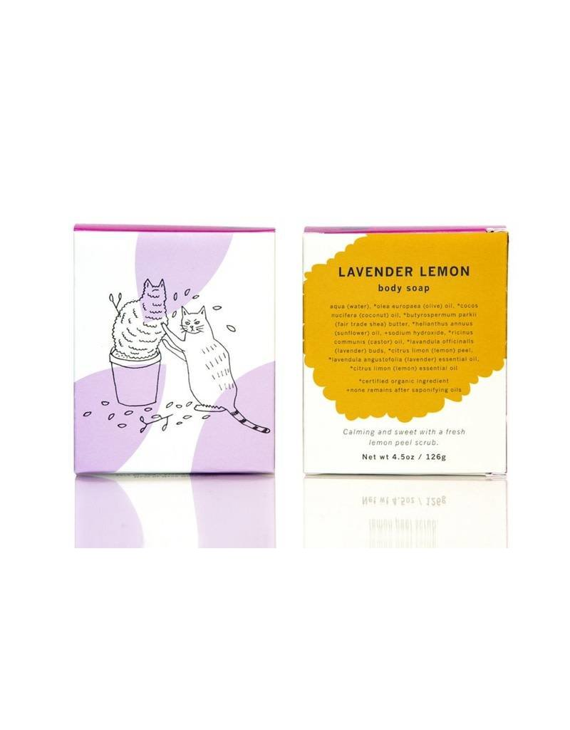 meow meow tweet meow meow tweet lavender lemon soap
