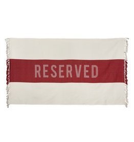 Sir/Madame Sir/Madame Reserved Red Beach Towel