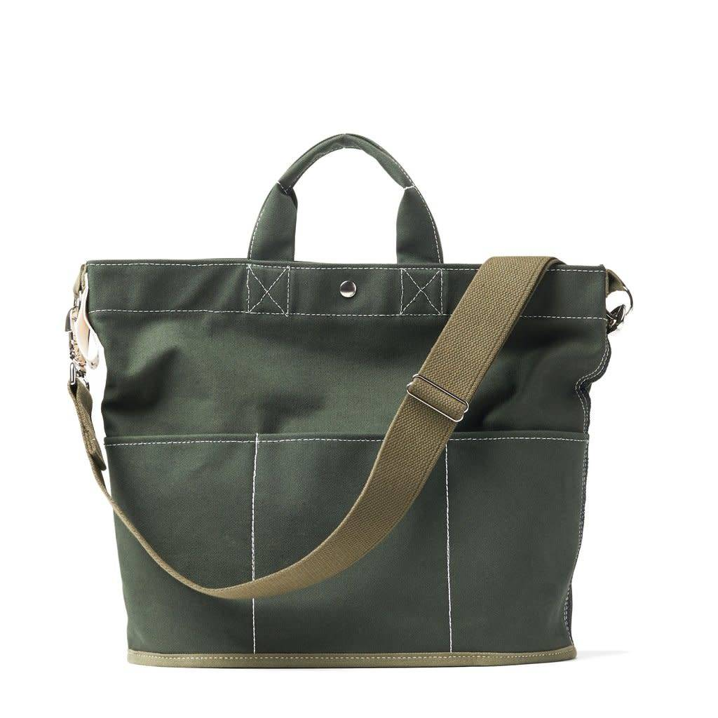 Utility Canvas Bucket Tote - Olive