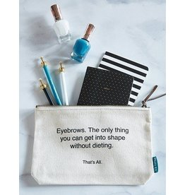 That's All - Eyebrows Canvas Pouch