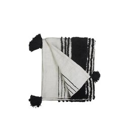 Casa Amarosa Casa Amarosa B+W Tufted Slub Throw