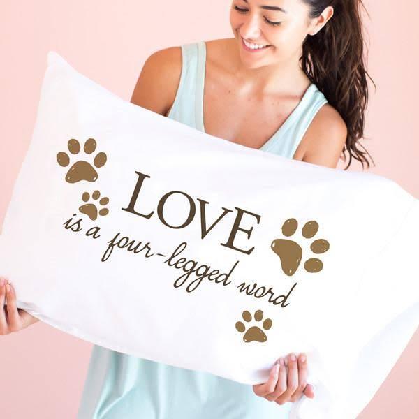 Faceplant Dreams Faceplant Dreams Love Is A Four-Legged Word-Std (Single Pillowcase)