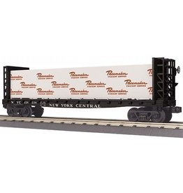 MTH - RailKing 30-76652 - FLAT CAR W/BULKHEADS & LUMBER LOAD