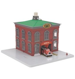 MTH - RailKing 309157	 - 	FIREHOUSE RED GRAY GREEN ROOF