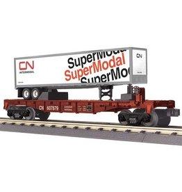 MTH - RailKing 3076513 - FLAT CAR CN W TRAILER