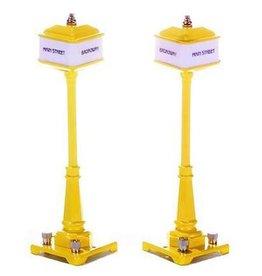 MTH - RailKing 301028 - # 57 CORNER LAMP YELLOW SET - 7 Tall