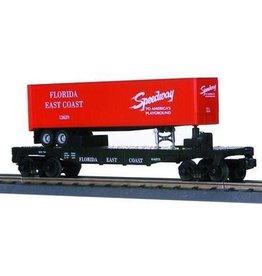 MTH - RailKing 307627 - FLAT CAR W/TRAILER F.E.C.