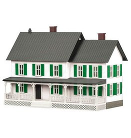 MTH - RailKing 3090331 - #4 Country House - White w/ Green Shutters