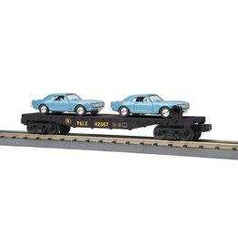 MTH - RailKing 3076424 - FLAT W/CAMEROS PITTS & LAKE ERI
