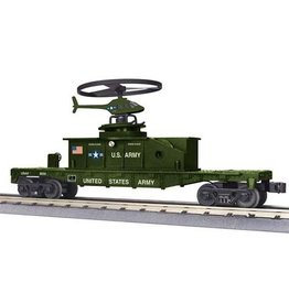 MTH - RailKing 3079338 - FLAT W/HELICOPTER ARMY