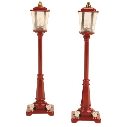 MTH - Lionel Corporation Tinplate 1190015	 - 	#56 GAS LAMP SET - MAROON
