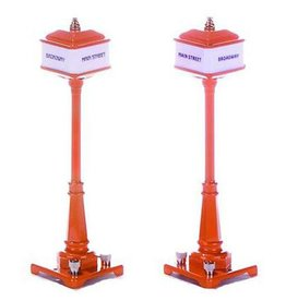 MTH - RailKing 301029	 - 	#57 Corner Lamp Set - ORANGE