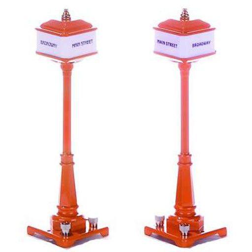 MTH - RailKing 301029 - #57 Corner Lamp Set - ORANGE
