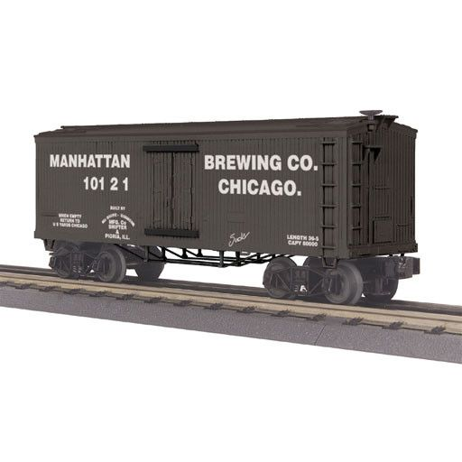 MTH - RailKing 3078045	 - 	19th Century Reefer Car - Manhattan Brewing Company Car