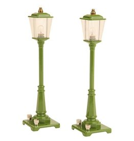 MTH - Lionel Corporation Tinplate 1190014	 - 	TINPLATE No. 56 Gas Lamp Set GREEN
