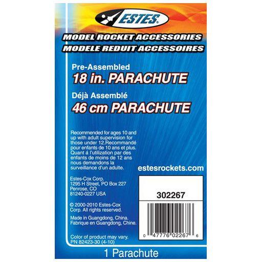 ESTES 2267 - ROCKET 18 Inch PRINTED PARACHUTE