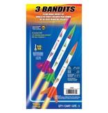 ESTES 2435 - 3 BANDITS ROCKETS E2X