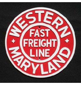 CUSTOM 26234 - WESTERN MARYLAND Railroad Builder Plate