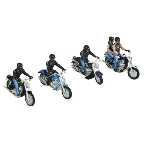 MTH - RailKing 3011076	 - 	5-PIECE MOTORCYCLE FIGURE SET