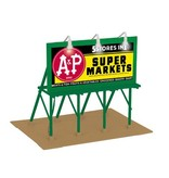 MTH - RailKing 3090494	 - 	30-90494 A&P GROCERIES LIGHTED BILLBOARD