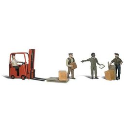 Woodland Scenics 2744 - WORKERS / FORKLIFT