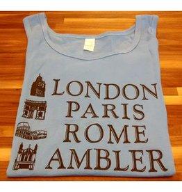 Choo Choo's YELLOW - SMALL - London, Paris, Rome, Ambler Tank Top