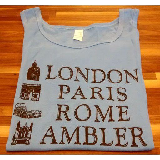 Choo Choo's GRAY - LARGE - London, Paris, Rome, Ambler Tank Top