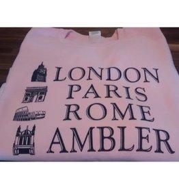 Choo Choo's PINK - XL - London, Paris, Rome, Ambler SWEATSHIRT