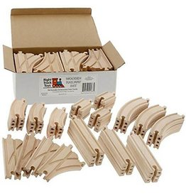 Right Track Toys 52 PIECE WOODEN TRACK EXPANSION SET - RTT