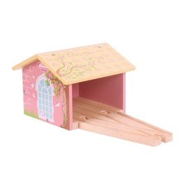 Big Jig Toys PINK DOUBLE ENGINE SHED