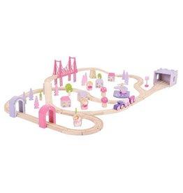 Big Jig Toys FAIRY TOWN TRAIN SET